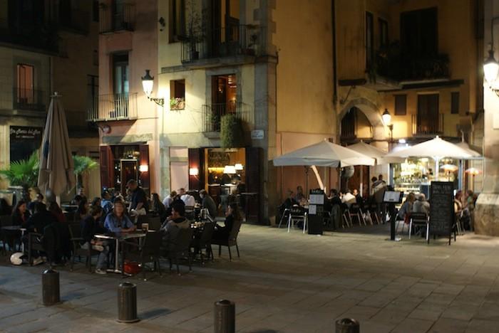 Een terrasje in Barcelona